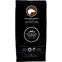 Kicking Horse Coffee, 454 Horse Power, Dark Roast, Whole Bean, 1 lb - Certified Organic, Fairtrade, Kosher Coffee