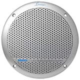 Lanzar AQ6DCS 360 Watts 6.5-Inch Dual Cone Marine Speakers - Silver Color - Set of 2