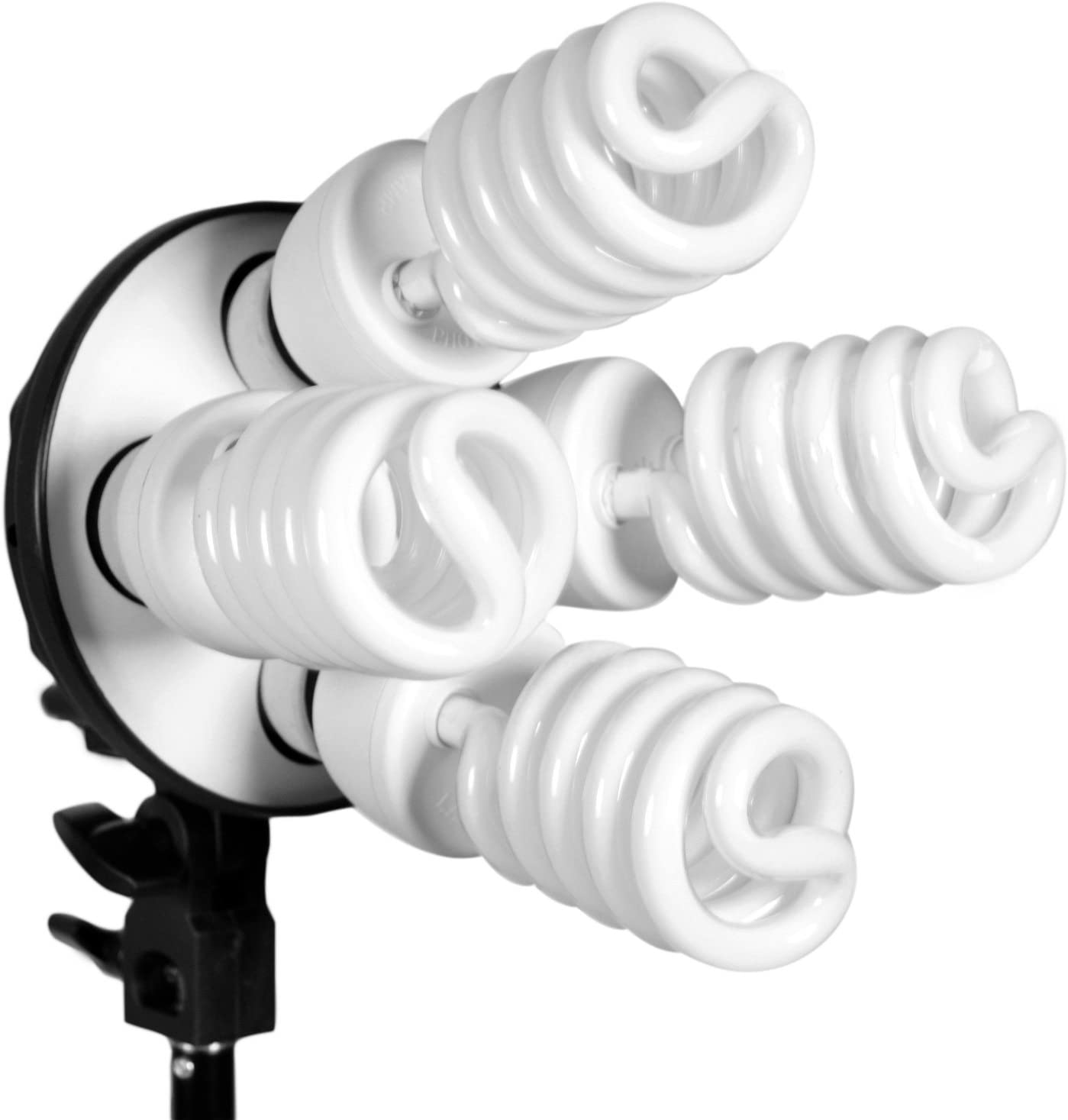 CanadianStudio 2400 Watt Digital Video Photography Portrait Light Continuous Softbox Lighting Kit and Boom Set with High Key Muslin White//Black Screen Backdrop Stand kit