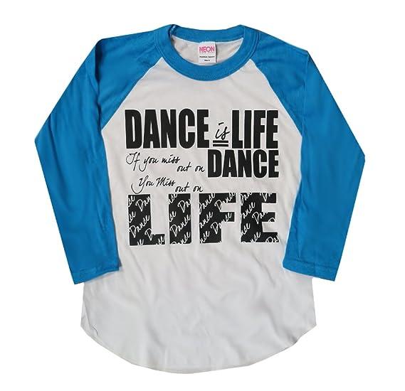 f9329a974f42 Amazon.com  Dance is Life 3 4 Sleeve Raglan Dancer T-Shirt  Clothing