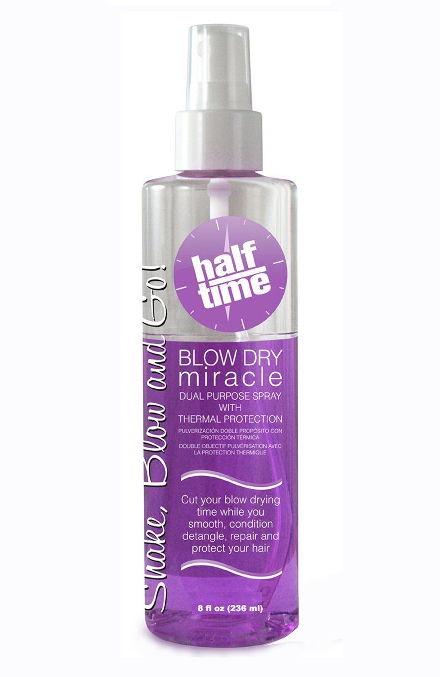 Half Time Hair Blow Dry Miracle Dual Purpose Spray with Thermal and Color Protection Professional Size, 8 oz. HT-BDM-ORIGINAL 1