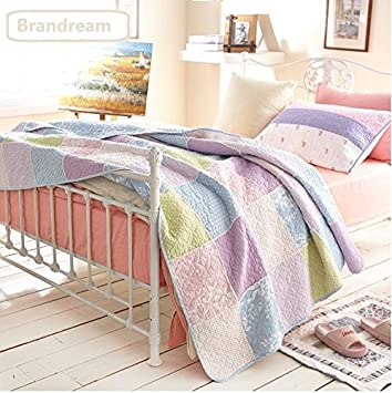 Amazon.com: Brandream Twin Size Girls Romantic Rustic Style Summer ... : size of twin size quilt - Adamdwight.com