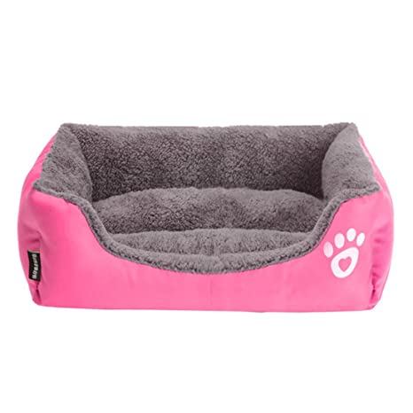 Lamzoom Cama de Perro de Felpa Premium Impermeable Cama de Perro Suave Cálido Cama de Mascota