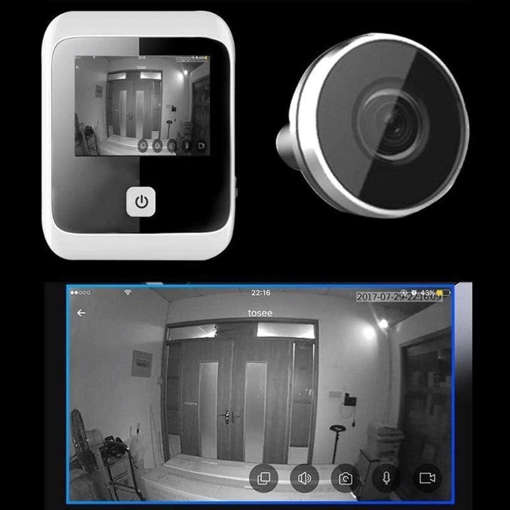 3.0 pulgadas LCD digital de mirilla timbre del espectador Ojo amplio de 170 grados Ángulo de cámara digital de alta definición de vídeo grabadora de ojos 1 MP (Color : 1)