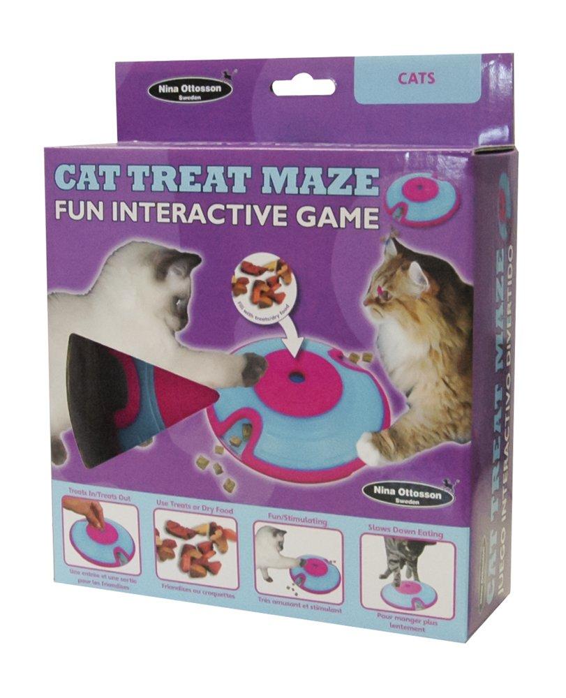 Nina Ottosson Distributeur de Friandises pour Chat TCA Maze Cat