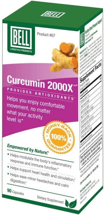 Curcumin 2000X by Bell Lifestyle Products – 90 Capsules
