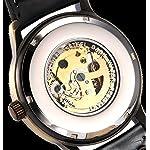Mens Steampunk Skeleton Case Automatic Mechanical Self-Winding Leather Sport Wrist Watch 8