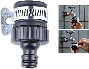 ECYC Universal Faucet Adapter Kitchen Garden Hose Pipe Tap Connector Mixer, 1/2