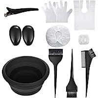elloLife[13 Pcs Kit ]Accesorios de Pelo Tinte, Professional Kit de Coloración con Pelo Tazón de Cepillo de Coloración…