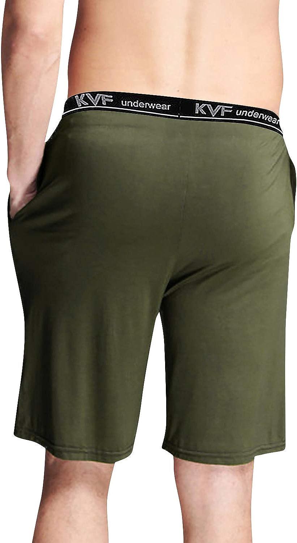 Boxer Pantaloncini Corti Pantaloni da Pigiama Biancheria da Notte Cintura Elastica Registrabile YAOMEI Uomo Pantaloni Pigiama Shorts Cotone Modale