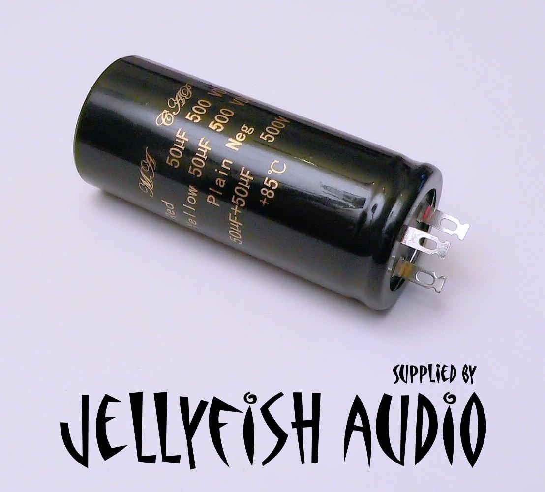 Jellyfish Audio - Condensador 50+50uF 500V para Amplificadores de Guitarra Marshall y Amplificadores de Audio de Válvula: Amazon.es: Instrumentos musicales