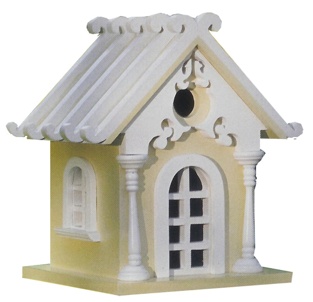 Fairy Cottage Birdhouse, Light Yellow by Home Bazaar