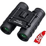 Compact Binoculars, 10 x 22 Small Binocular Telescope for Kids and Adults. Waterproof Folding Binoculars for Bird Watching, Outdoor Hunting, Traveling, Concerts