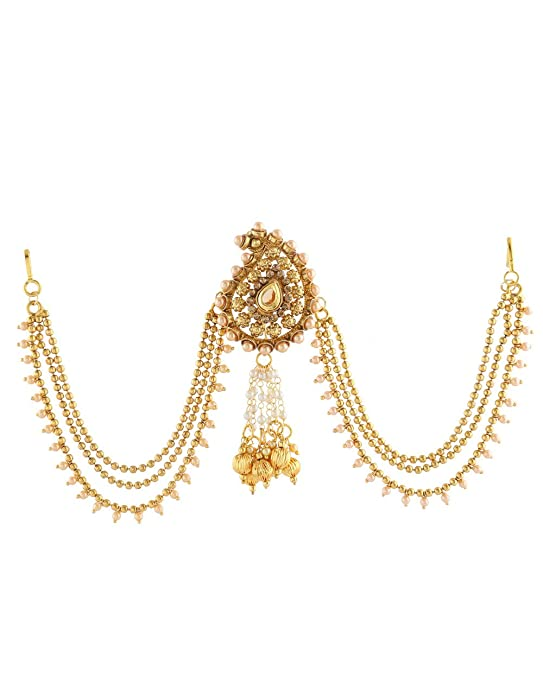 Anuradha Art Golden Finish Styled with Squar Shape Wonderful Designer Anklets//Payal for Women//Girls