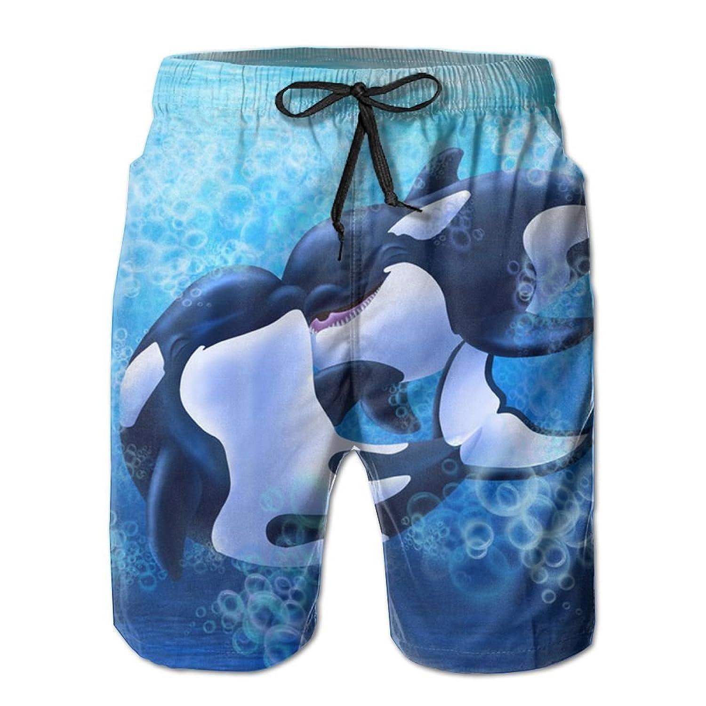 Poop Lool Mens Cute Killer Whale Beach Short Pant Swimming Pants