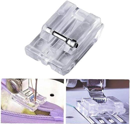 Máquina de Coser Piezas de la Cremallera Invisible del pie prensatelas de plástico Kit de Costura Bordado Herramientas Accesorios: Amazon.es: Hogar