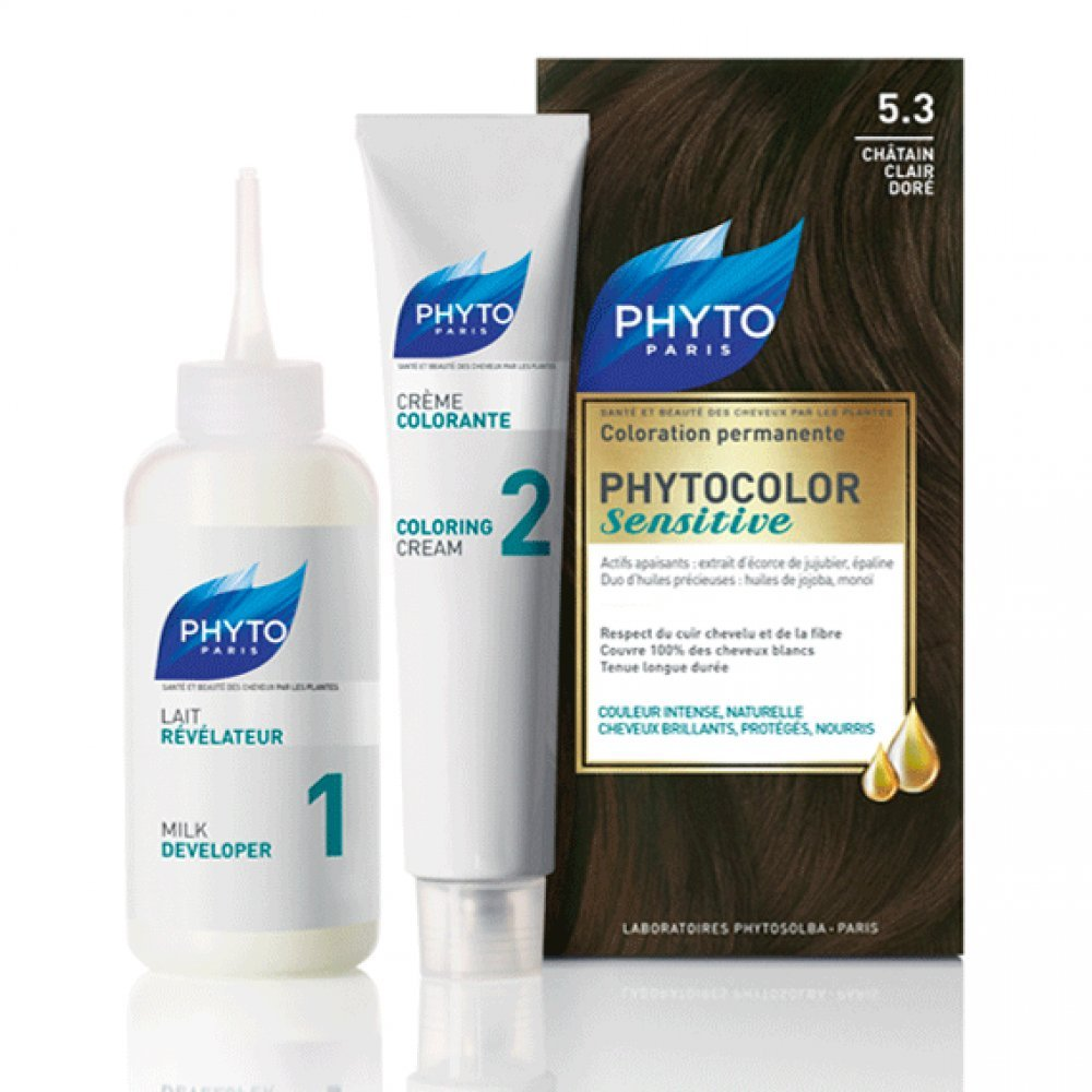 PHYTOCOLOR Sensitive Permanent Color Shade 4 Brown 8320