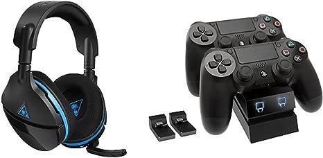 Turtle Beach - Auriculares de Juego Premium con Sonido Envolvente Inalámbricos, Stealth 600 (PS4, PS4 Pro) + Venom - Twin Docking Station (PlayStation 4): Amazon.es: Videojuegos
