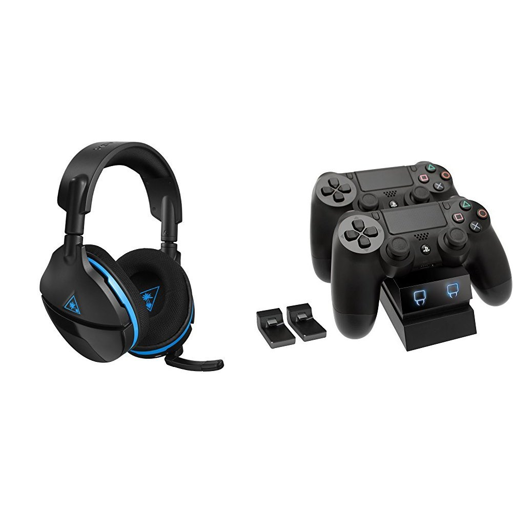 Turtle Beach Stealth 600 Wireless Surround Sound Gaming Headset (PS4, PS4 Pro) + Call of Duty: WWII (PS4)