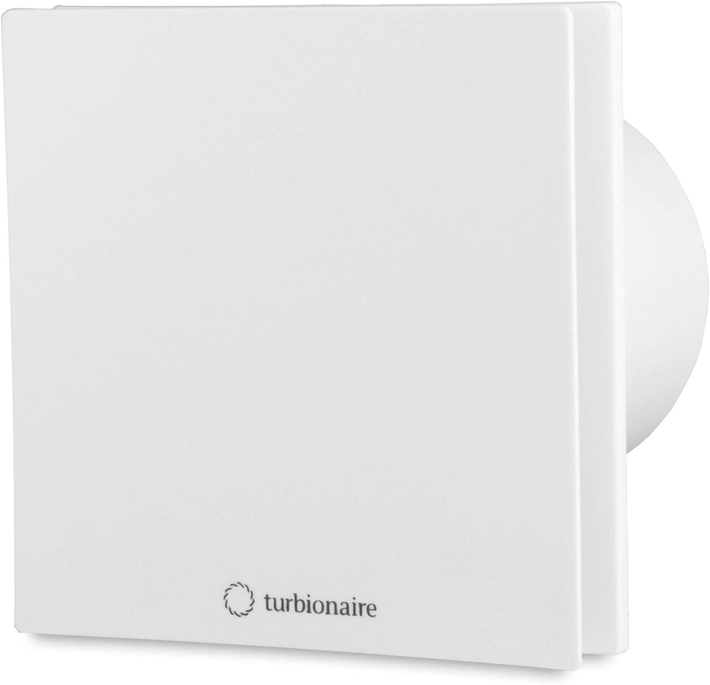 Turbionaire Arte 100 SW Extractor de Baño 100 mm, blanco, extracción, ventilación estándar, para baño, cocina, válvula de no retorno protección IPX4