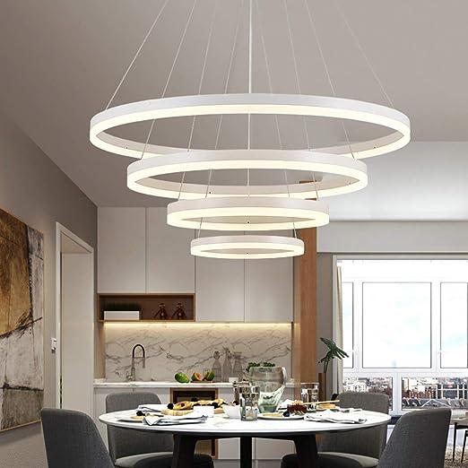 Dimmable LED Lampes Lampe suspendue Blanche Salle à manger Suspension Lampe  Chambre à Coucher Plafonnier Salon Table à manger Bureau Galeries ...