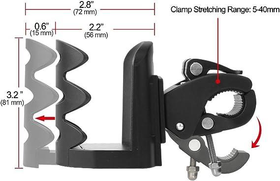 AumoToo Portaborraccia per Bici Universale Bere cestelli portaborraccia per Biciclette Mountain Bike passeggini e Sedia a rotelle