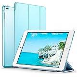 iPad Mini ケース クリア ESR iPad Mini2 ケース レザー PU iPad Mini3 ケース 軽量 スタンド機能 傷つけ防止 オートスリープ ハード三つ折 iPad Mini3/2/1(初代第二三世代)専用スマートカバー(スカイブルー)