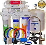 iSpring RCC7AK 6-Stage Superb Taste High Capacity Under Under Sink Reverse Osmosis Drinking Water Filter System with Alkaline Remineralization - Natural pH, White