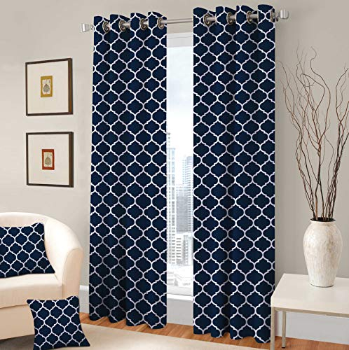 - TreeWool Decorative Grommet Curtain Panel Drape Trellis Accent for Living Room Bedroom Window Treatment (Set of 2 Panels, 48
