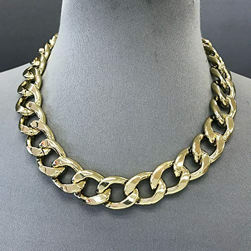 Gold Finished Chain 0.75 Thick Cuban Link Designer Inspired Hip Hop Necklace LL-1570