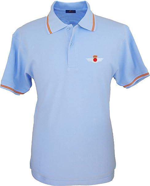 Pi2010 – Polo Ejército del Aire para Hombre, Color Azul Celeste ...