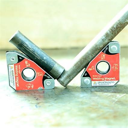 2 piezas Soporte de imanes de soldadura Herramientas de soldadura de ángulo múltiple 30 ° 60