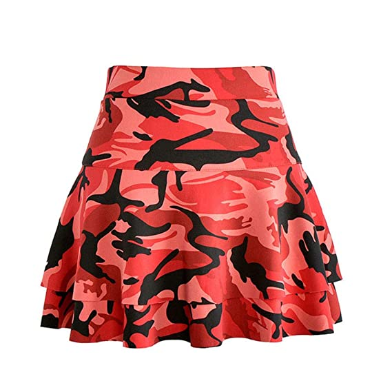 Liangzhu Moda Faldas Elástica Plisada Cintura Alta Ajuste Delgado ...