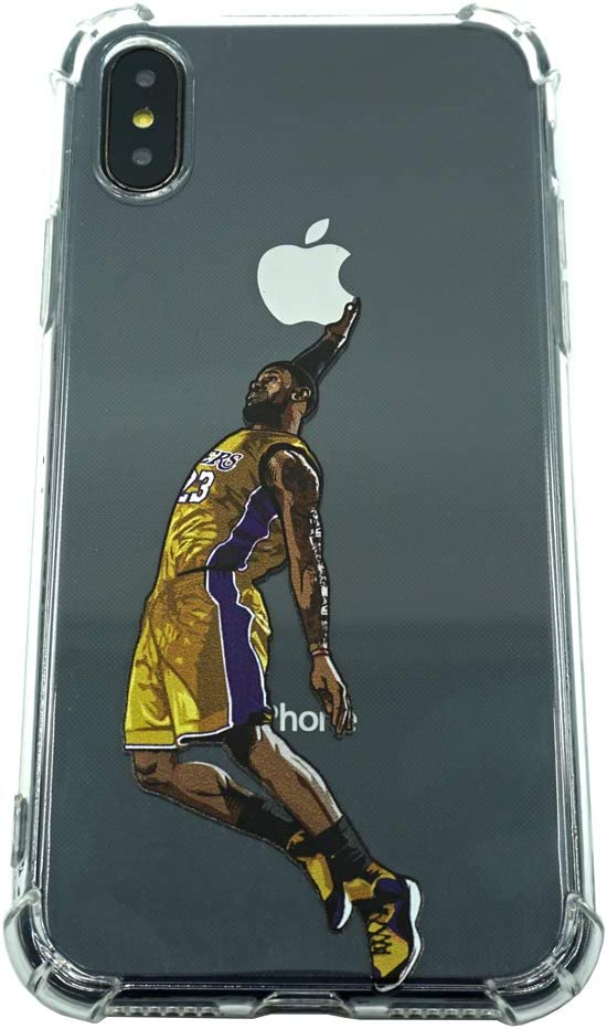 Basketball Stars Ultra Slim Crystal Clear Soft Transparent TPU Case Cover for Apple iPhone (LBJ, XR)