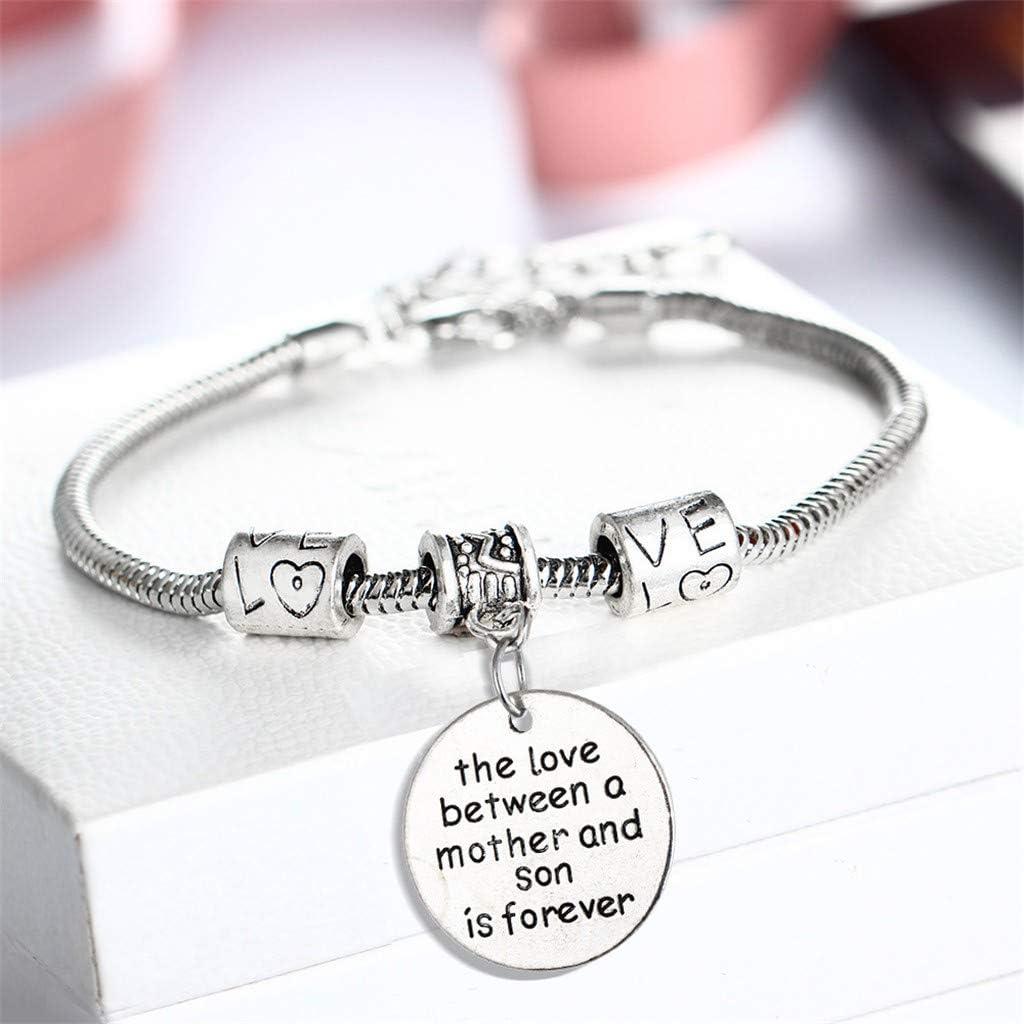 The Love between a grandmother//mother and granddaughter//daughter//son in forever Bracelet Bracelet Keychain Necklace Cancer Awareness Bracelet Keychain Necklace Jewelry Gift for Grandmother//Mother
