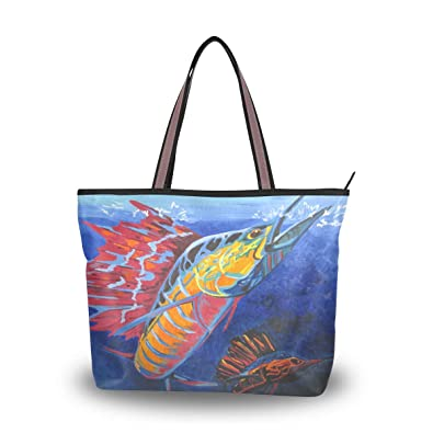 550422574cff6 Amazon.com: Brighter Cool Animal Colorful Sailfish Painting Women's ...