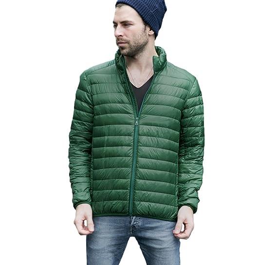 ZKOO Invierno Chaqueta de Plumón para Hombre Compresible Ligero Cazadora Plumas Acolchada Jacket: Amazon.es: Ropa y accesorios