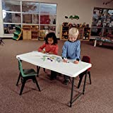 Lifetime 4428 Height Adjustable Folding Utility Table, 48 by 24 Inches, White Granite Variant Image