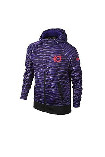 7fbfe80d5447 Nike Boys KD Klutch Elite Full-Zip Basketball Hoodie (Purple) (Large)