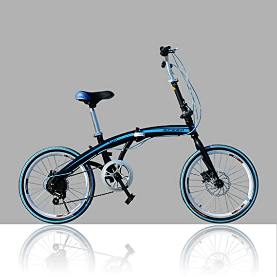 Amazon.com : YEARLY Adults folding bicycles, Student folding bicycles U8 Men and women Foldable bikes-Blue 20inch : Sports & Outdoors