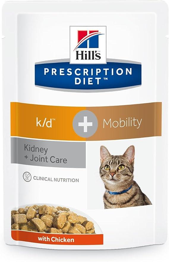 Hills HPD Feline K/D Plus Mobility Pouch 85Gr 85 g: Amazon.es: Productos para mascotas