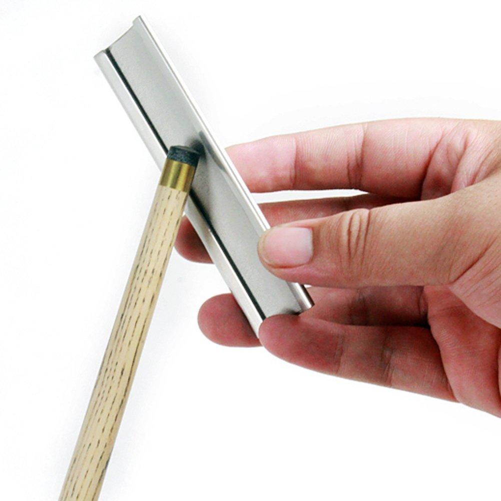 Metal billar taco de billar punta cortadora//Scuffer//Lija//shaper herramienta de reparaci/ón de archivos Burnisher