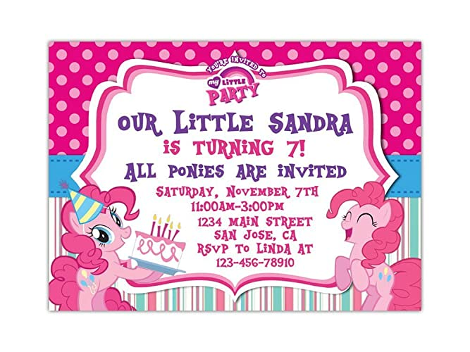Amazon my little pony birthday party invitations any age custom my little pony birthday party invitations any age custom filmwisefo