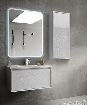 Arredobagnoecucine Meuble Salle De Bain Suspendu Moderne Venus Blanc