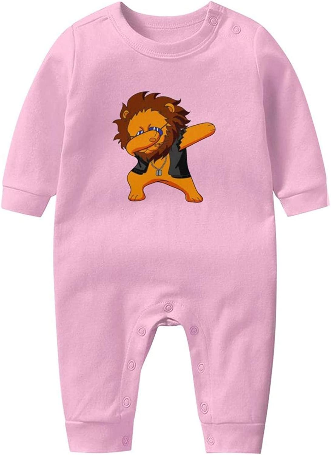 Lion King of Pop Kids Boys Girls Classical Baby Crawling Suit Lone-Sleeved Romper Bodysuit
