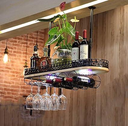 Estanterías para vino Estanterías de techo de vino Altura ajustable Montado en la pared Estantería para