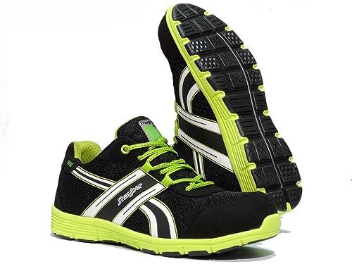 J Hayber Works - Calzado de seguridad Sport line Runner S1P SRA NEGRO - PISTACHO