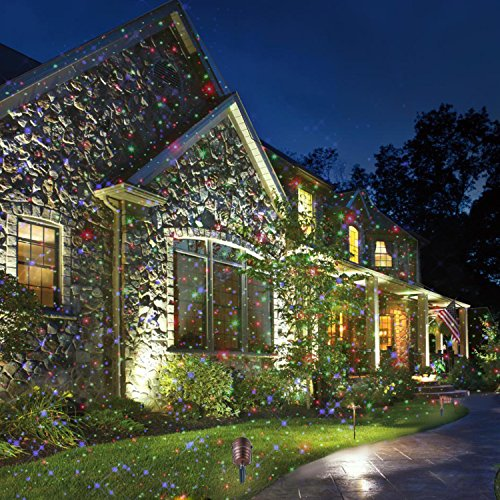 amazoncom laser christmas lights outdoor projector light ip65 star laser show decoration blue red green aluminum laser spotlights model argb in