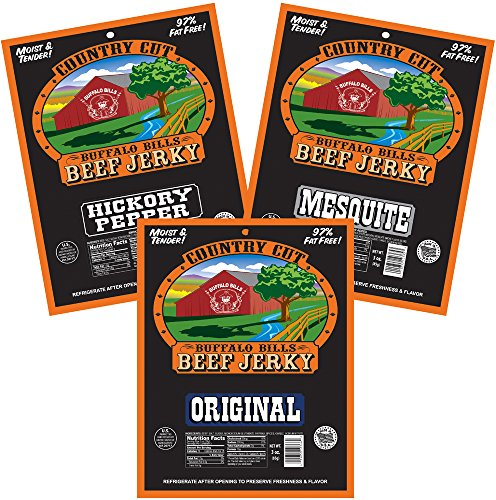 Buffalo Bills Country Cut 3oz Traditional Beef Jerky Samp...