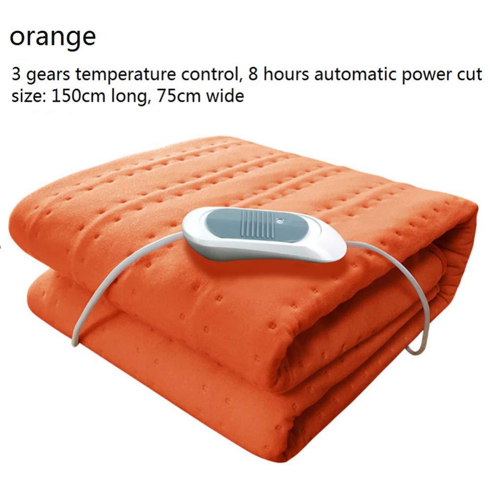 Manta eléctrica manta eléctrica de la calefacción de la seguridad de la cama del solo dormitorio del control solo manta eléctrica doble casera del salón de ...